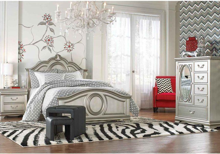 Grace Silver Full 5 PC Bedroom Set
