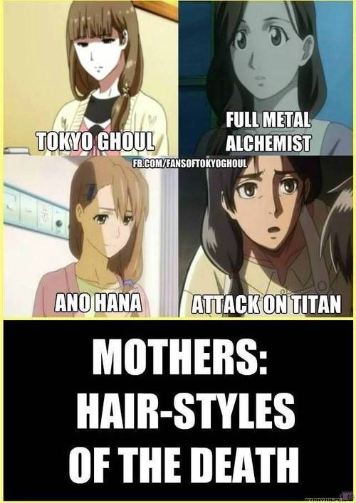 Oh Man I Forgot All About The Mom Hair Styles Of Anime So When I