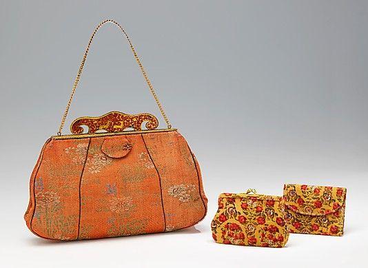 Evening purse  Paola Bordaz  (French)  Date: ca. 1935 Culture: French Medium: silk, metal, cotton