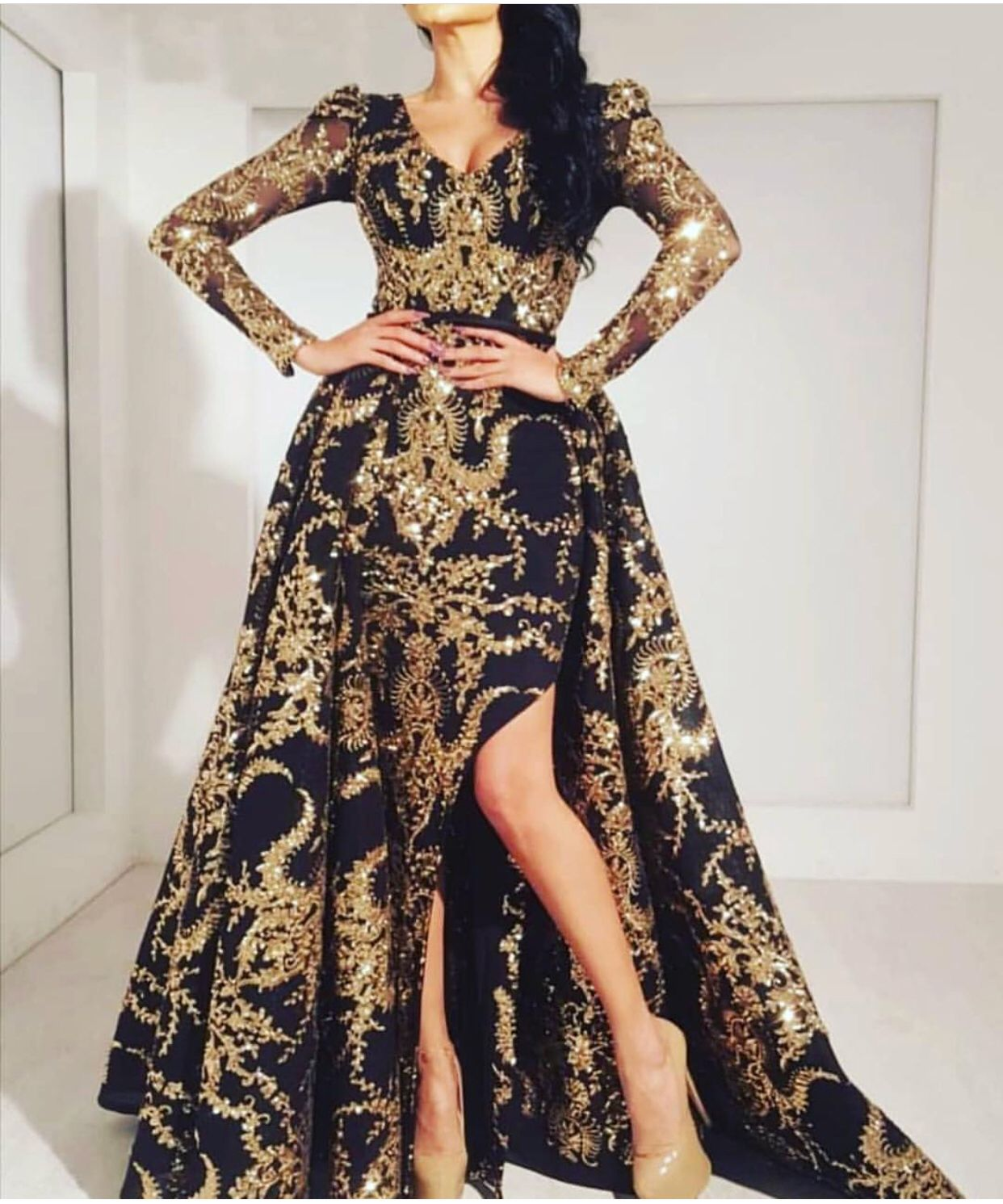 44+ Black and gold dress ideas