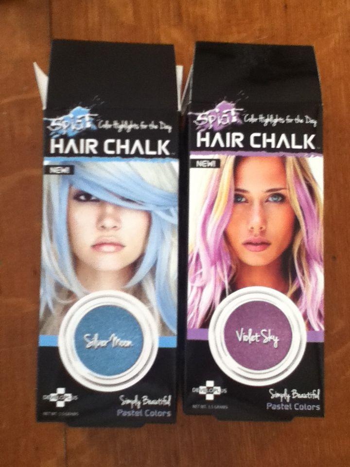 Colors For Splat Hair Chalk Silver Moon Light Blue Violet Sky
