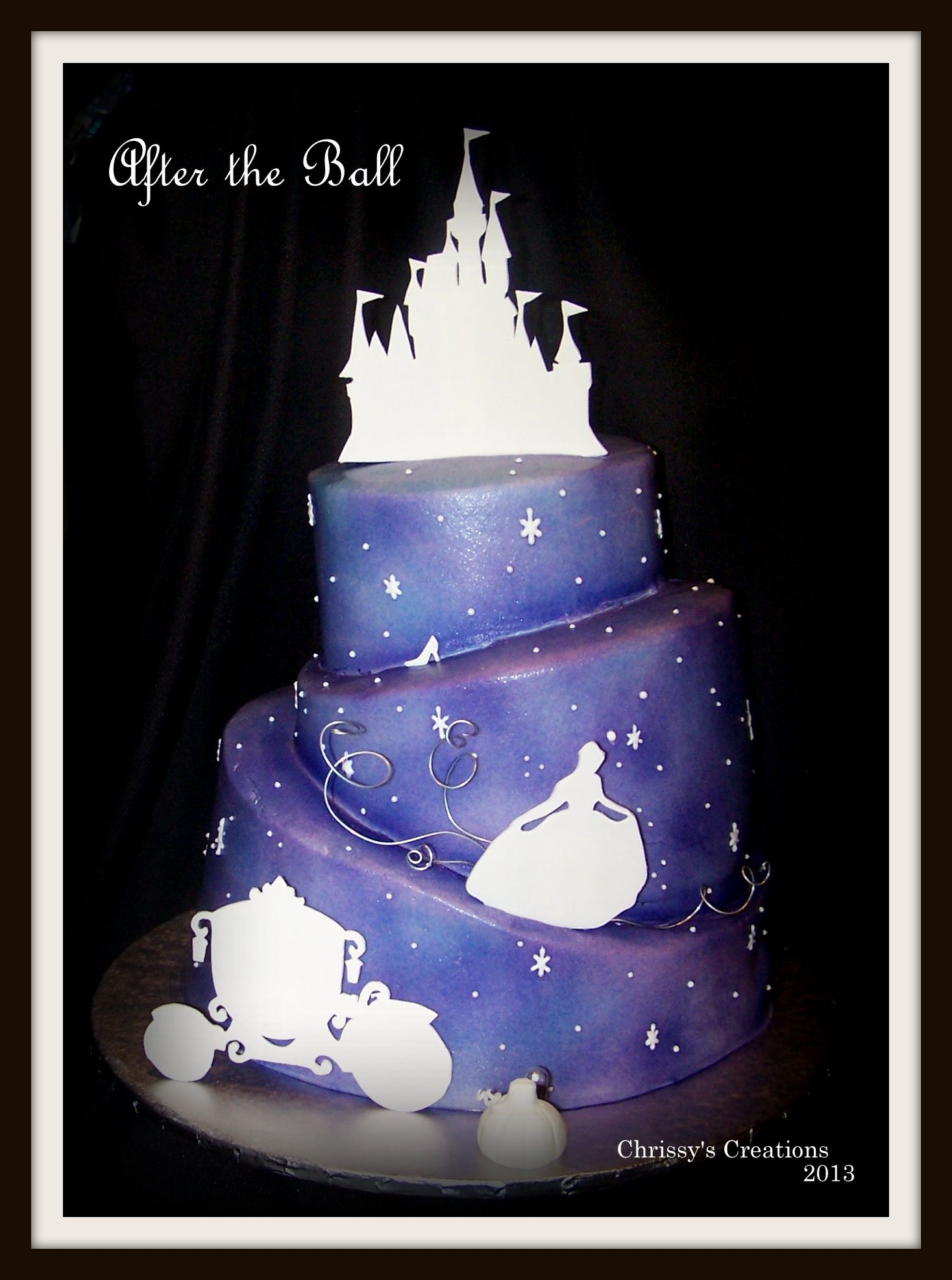 Disney Themed Cakes Gumpaste Silhouettes Airbrushed Butterceam
