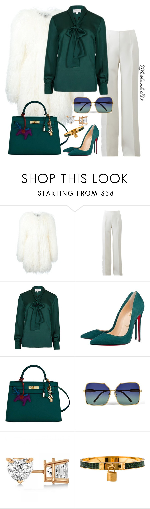 """NYFW2016"" by fashionkill21 ❤ liked on Polyvore featuring Philipp Plein, Michael Kors, Christian Louboutin, Hermès, Wildfox and Allurez"