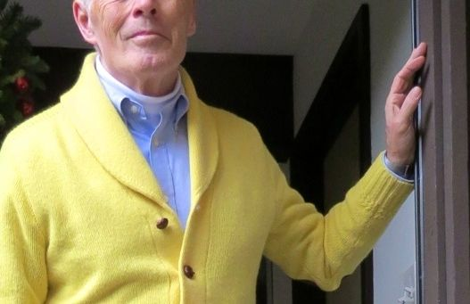 Rugby Ralph Lauren Shawl Collar Cardigan with suede elbow patches.