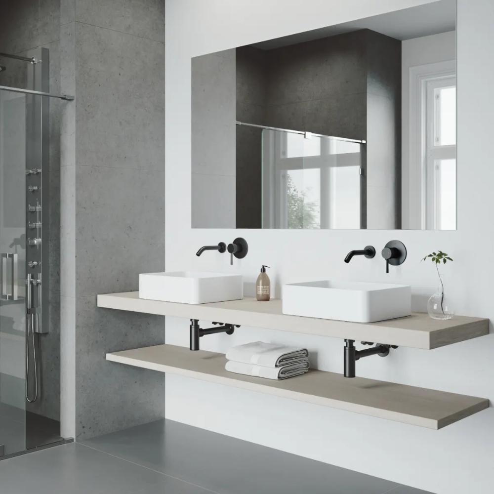 Vigo Vg05001arb2 Olus 1 2 Gpm Wall Mounted Build Com In 2021 Wall Mount Faucet Bathroom Rectangular Sink Bathroom Square Bathroom Sink [ 1000 x 1000 Pixel ]