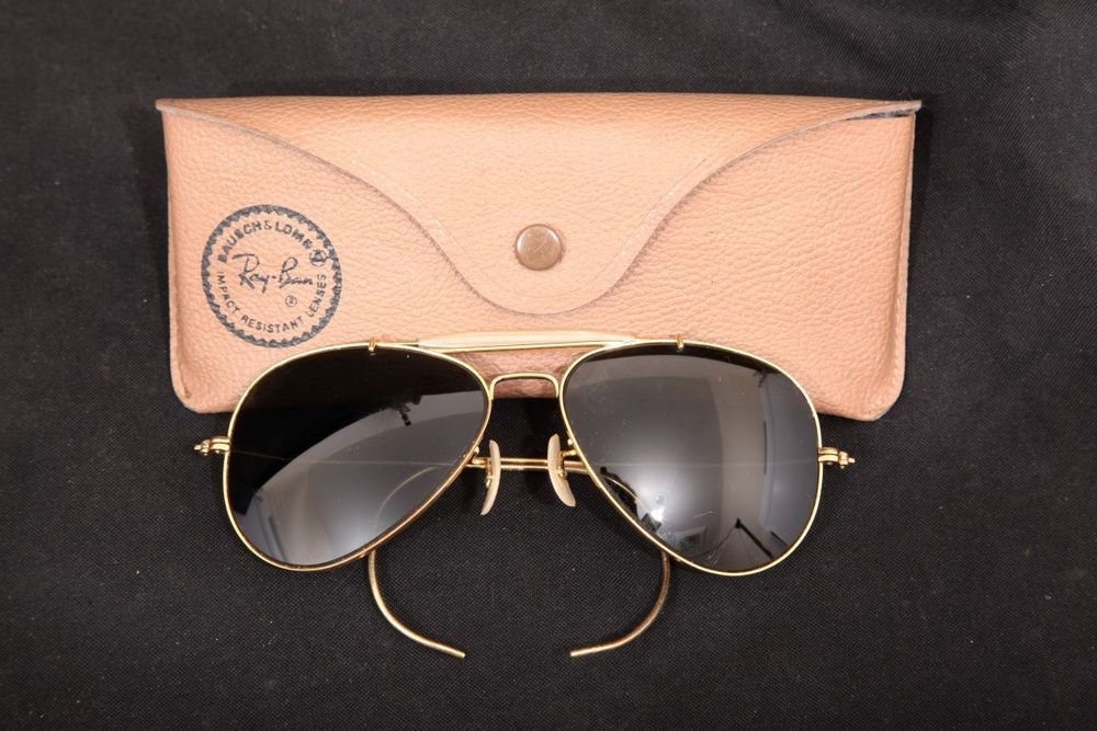 dead2934c2 Vintage Ray-Ban   Bausch   Lomb Aviator Ting Sunglasses   Leather Case B L  58 14  fashion  clothing  shoes  accessories  vintage  vintageaccessories  (ebay ...