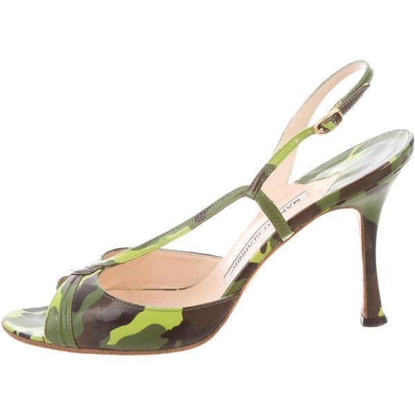 Pre-owned - Mid-height, in leather Manolo Blahnik