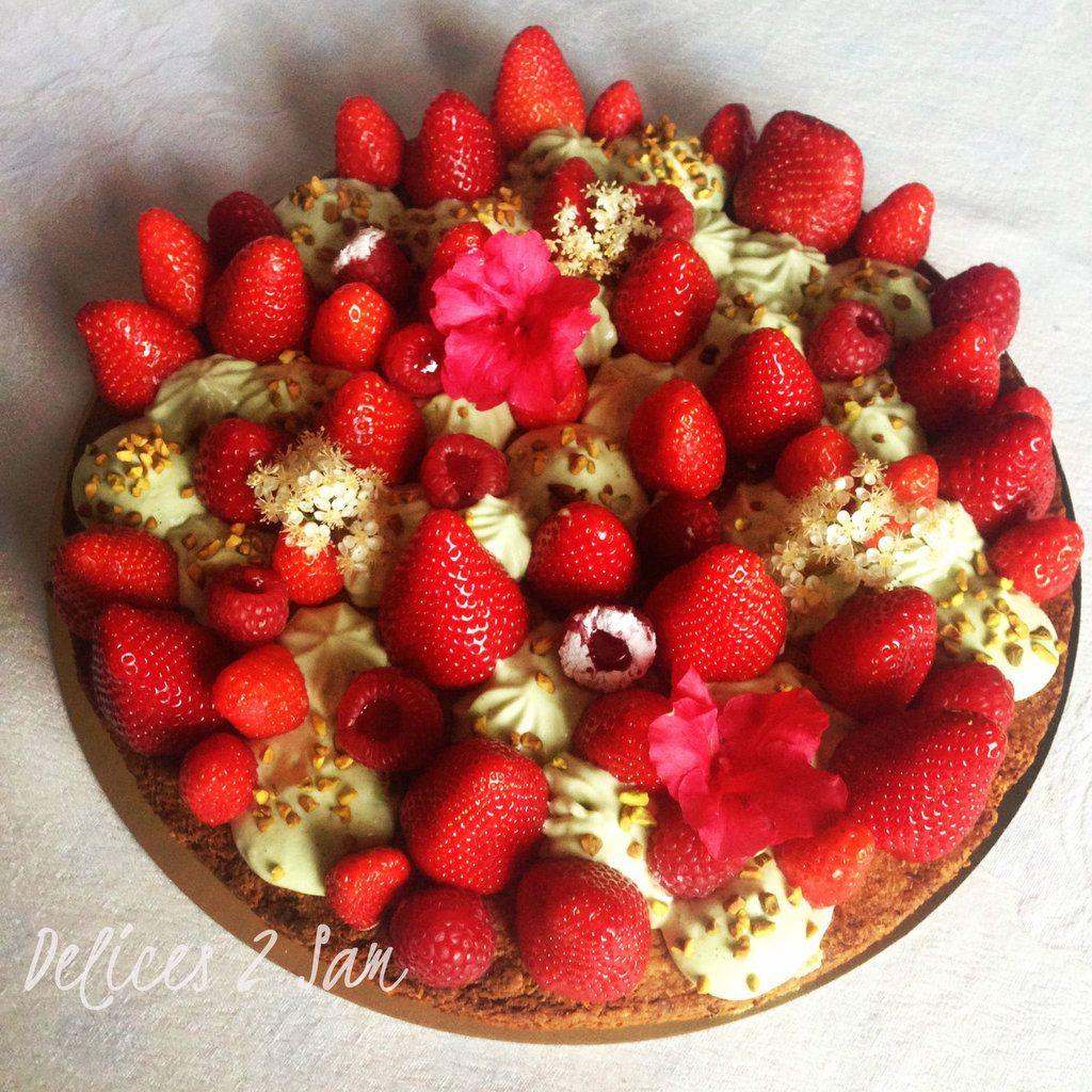 Gateau rectangulaire aux fruits