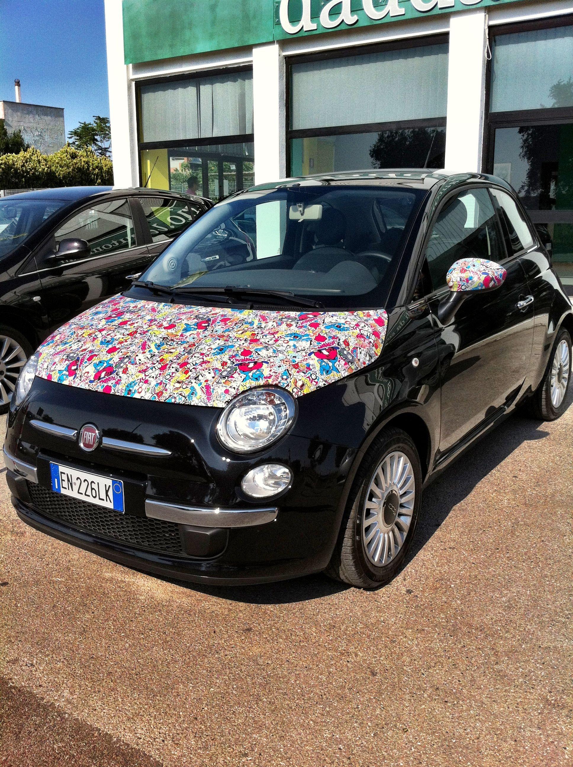 Sticker bomb car design - Sticker Bomb Car Wrap Fiat 500