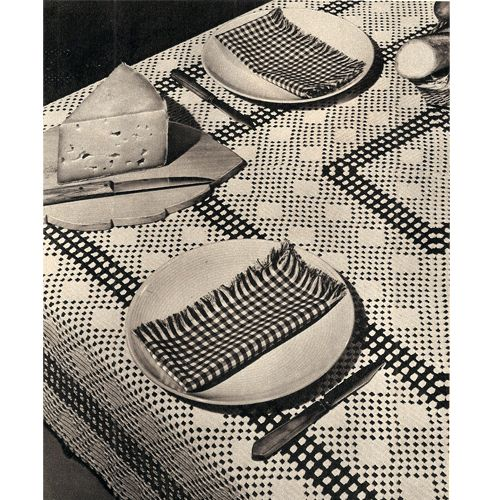 Vintage 1951 Crochet Tablecloth pattern from Womans Day to crochet a ...