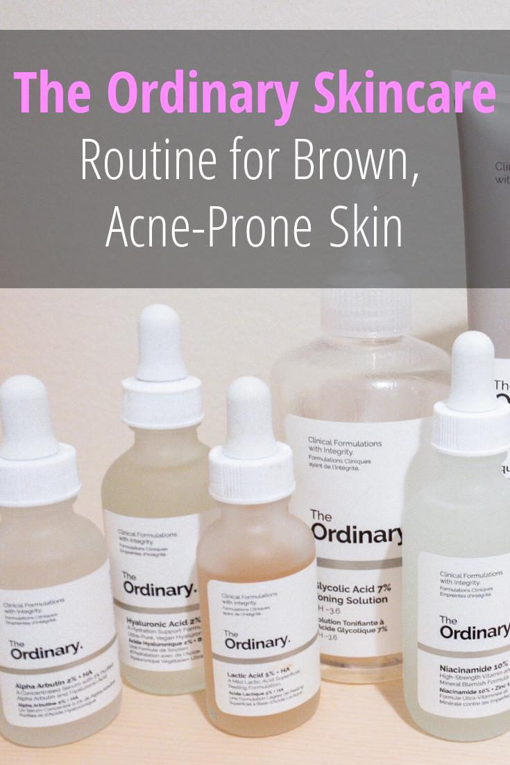 The Ordinary Regimen For Brown, AcneProne Skin Acne