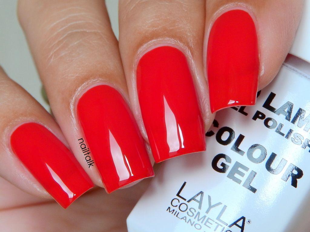 Layla No Lamp Gel Polish 09 Live Red | Nails | Pinterest