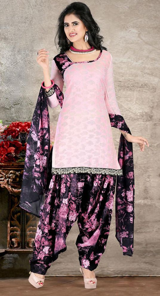 USD 23.27 Light Pink Cotton Punjabi Suit 44933 | Suits | Pinterest
