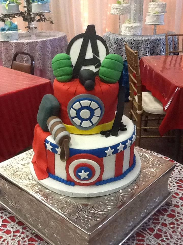 How Cute Is This Avengers Cake By Yolandas Specialty Cakes The Making Game Has Been Taken Up A Notch