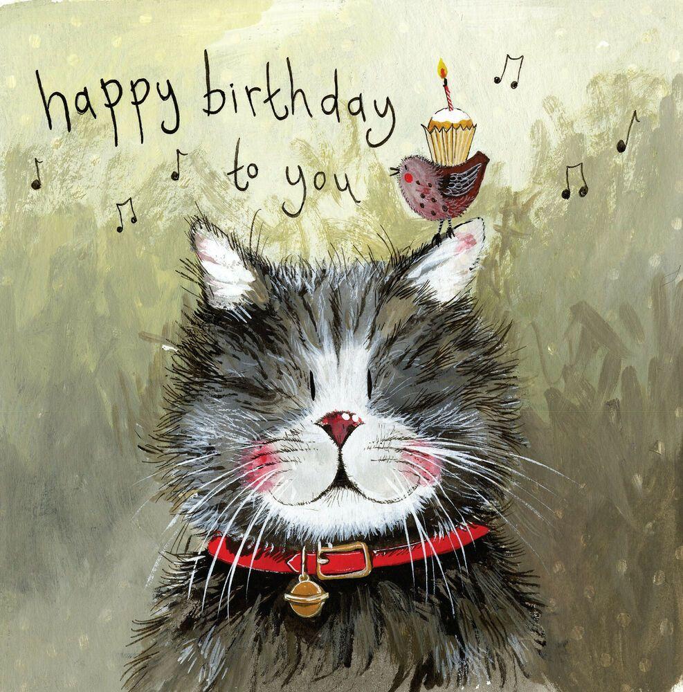 Klaus Cat Funny Greeting Card Alex Clark Humorous Birthday