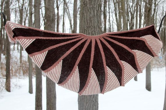 shawl Short rows fantasy by Knittingneat on Etsy