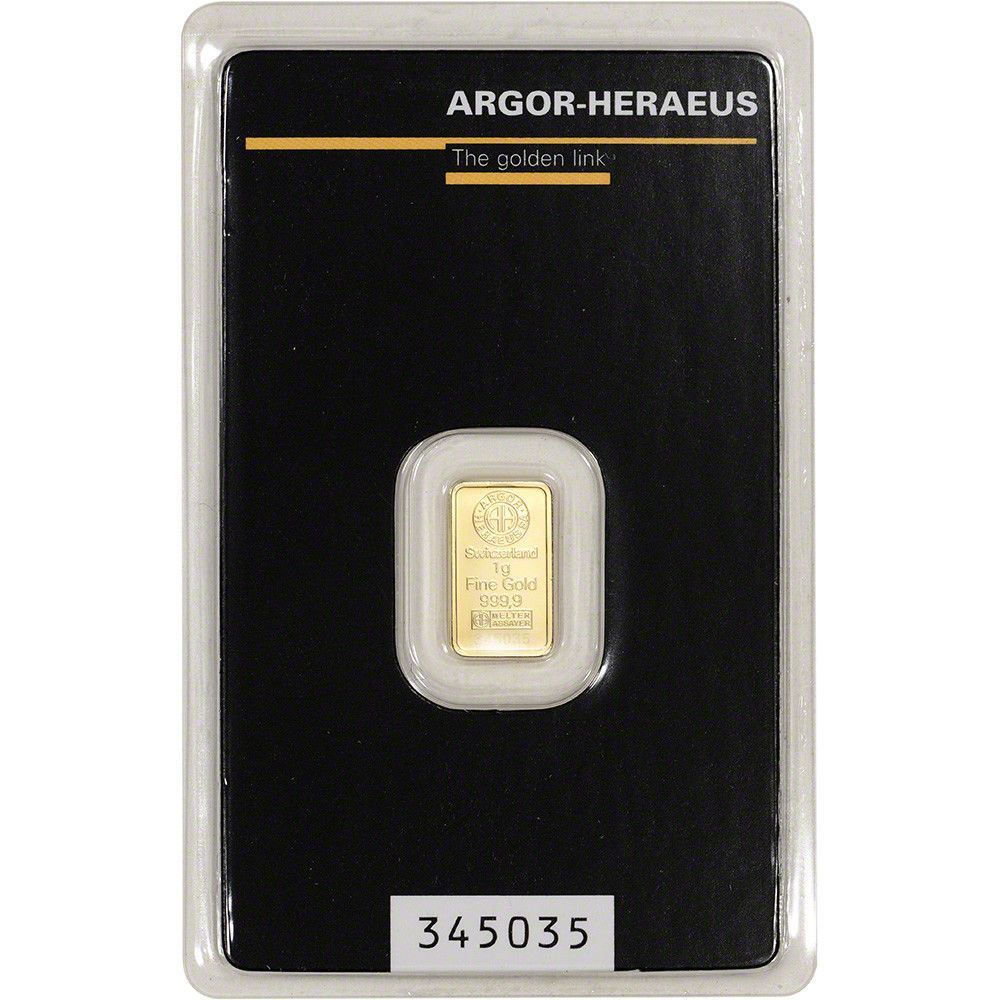 1 Gram Gold Bar Argor Heraeus 999 9 Fine In Assay Gold Bar Gold Bars For Sale Gold Bullion Bars