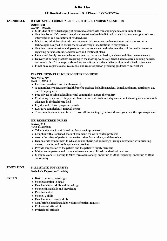 25 Nurse Resume Template Word (2020) Nursing resume