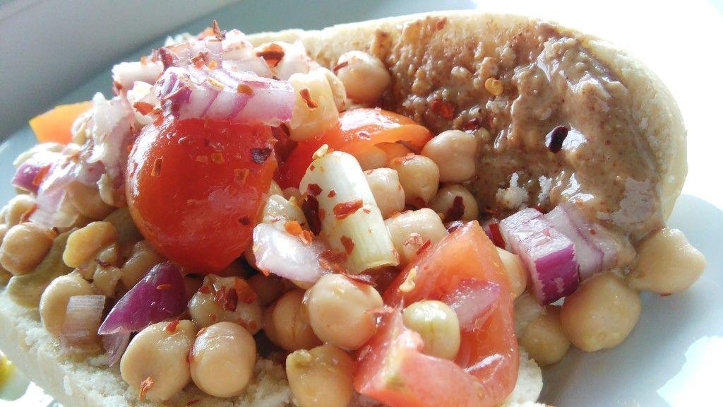 Chickpea & Peanut Butter Open Sandwich