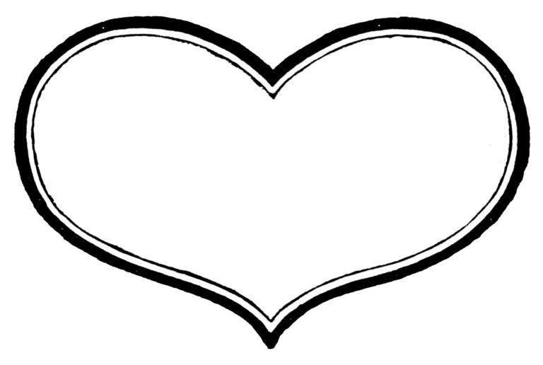 Vintage Black White Heart Clipart In 2021 Valentine Heart Images Black And White Heart Heart Images