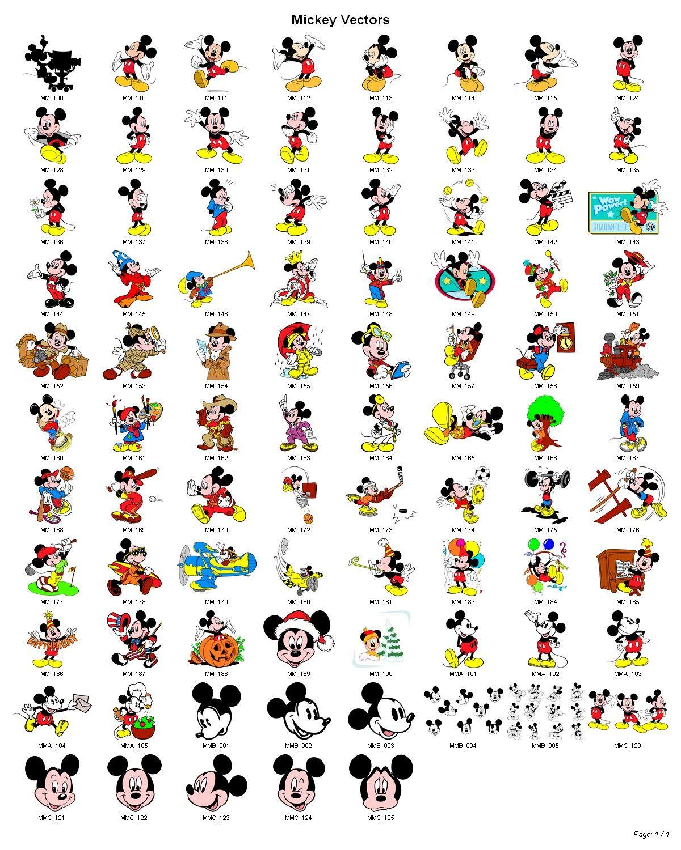 Dessin en couleurs imprimer personnages celebres - Tete de mickey a decouper ...
