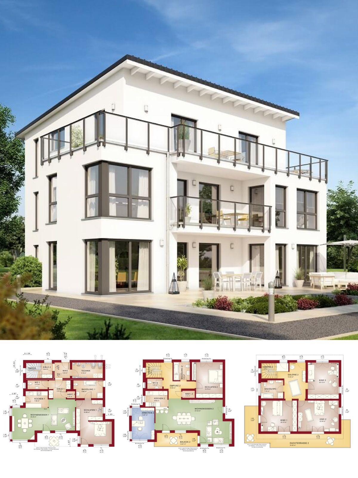 Zweifamilienhaus Modern Mit Einliegerwohnung & Pultdach