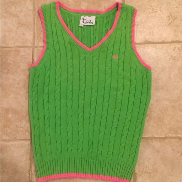 Lily Pulitzer Sleeveless Sweater Worn A Few Times Cable Knit