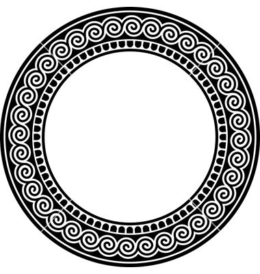 round frame with a meander vector 328424jpg 380400 round bgs pinterest