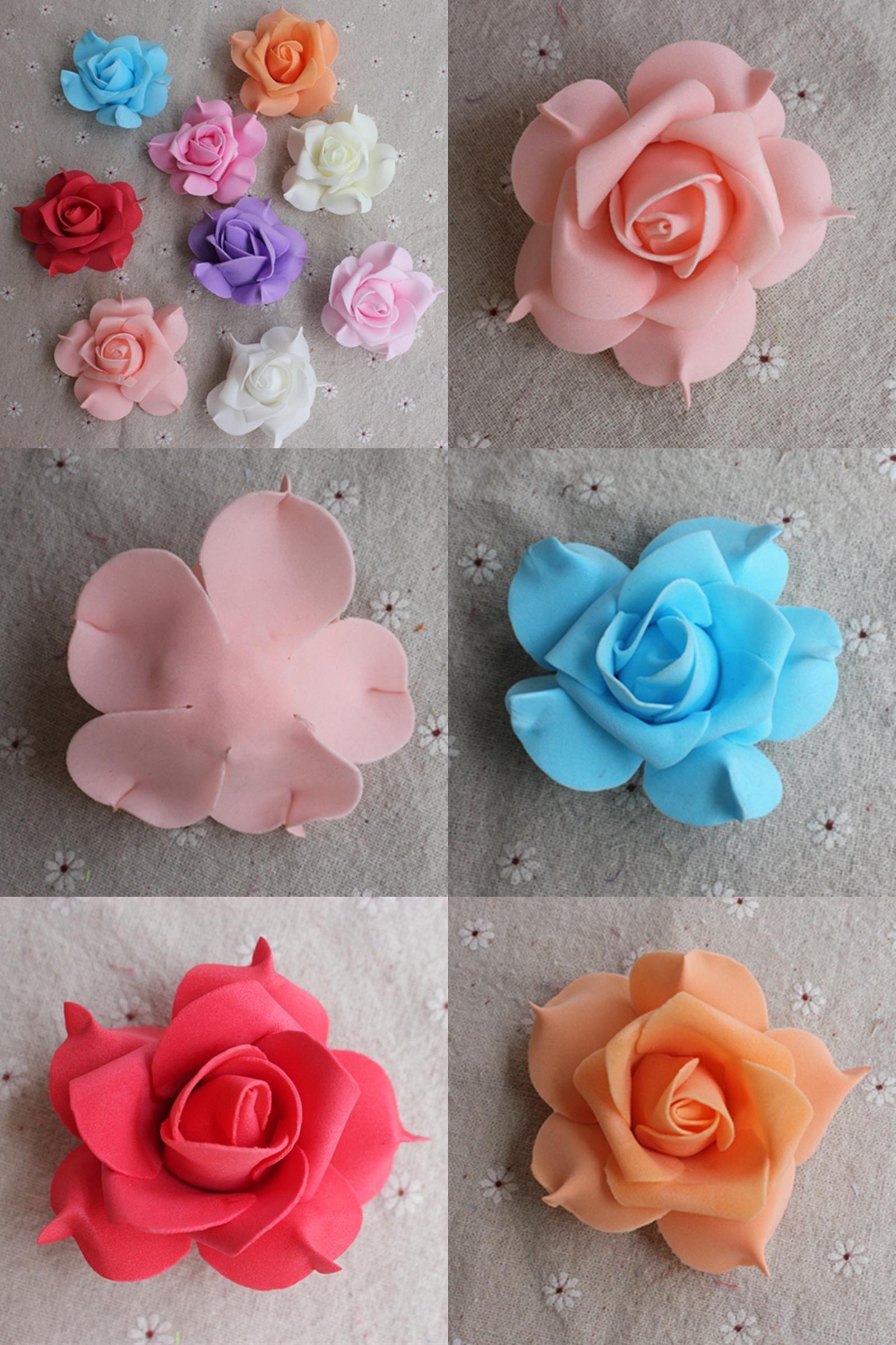 Wedding decorations on cars  Visit to Buy PCS  lot  cm big artificial foam Pentagon Rose