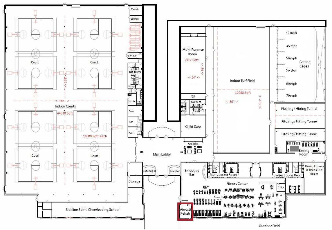 Indoor Sports Complex Floor Plans Sport