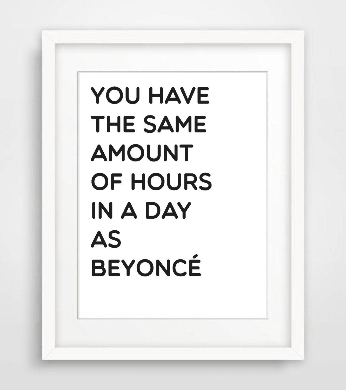 Beyoncé quote poster minimalist scandinavian poster wall ...