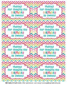 Labels for birthday goody bags google search birthday party labels for birthday goody bags google search negle Images