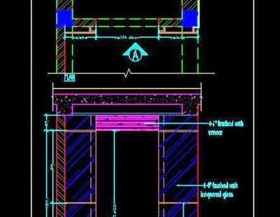 Lift Wall Cladding Design Free DWG Download (With images
