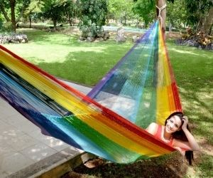 Wondrous Mayan Rainbow Hammock Hammock Mayan Hammock Double Hammock Gmtry Best Dining Table And Chair Ideas Images Gmtryco