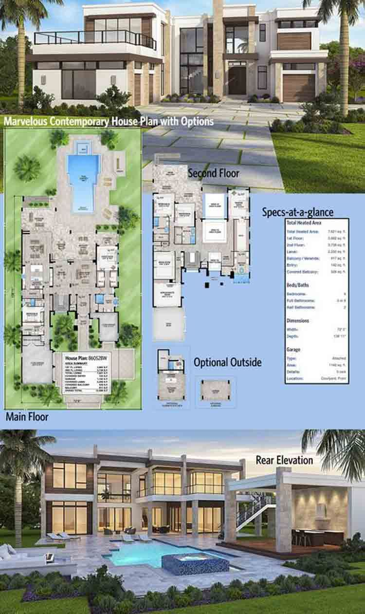 Modern Luxury House Rumah Kontemporer Desain Rumah Modern Rumah Mewah