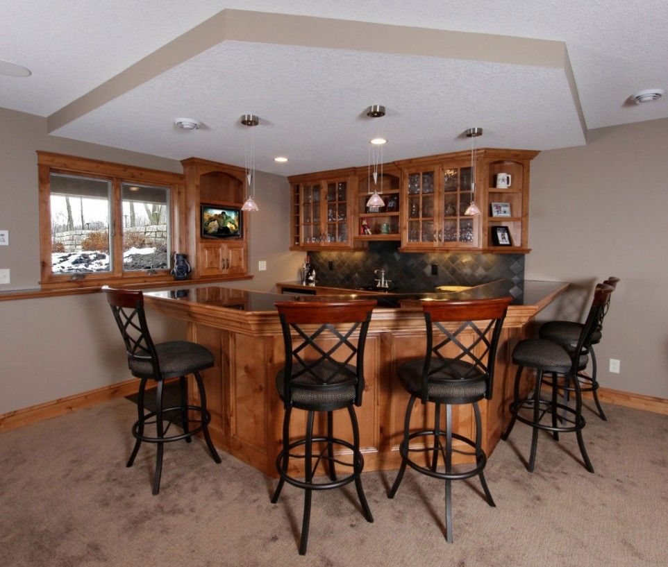 Home Interior, Basement Ideas: Changing Basement Become A Simple Bar: Simple  Design For Basement Bar Ideas