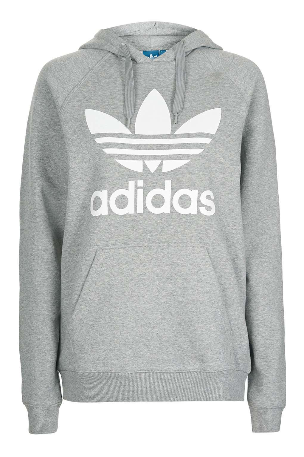 Adidas gray cropped hoodie athletic wear Depop