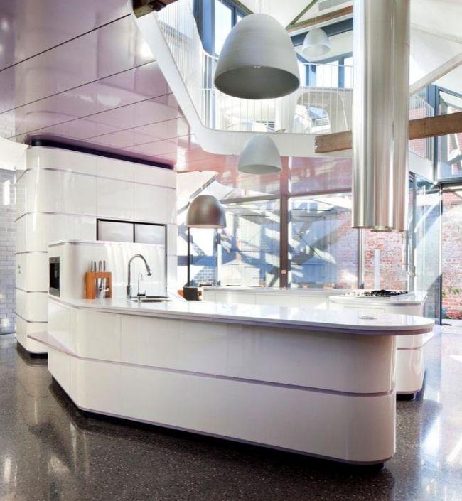 Moderne Hochglanz Küchen in Weiß \u2013 25 Traumküchen mit - Küchen Weiß Hochglanz
