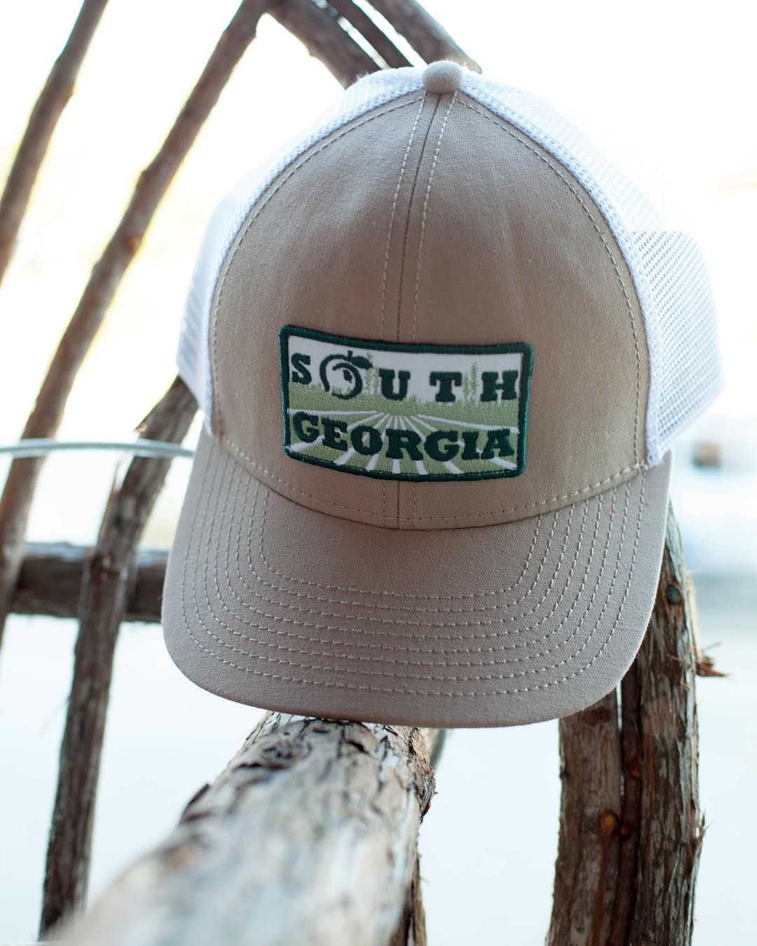 brand new f2a40 ab66a South Georgia Meshback Trucker Hat   Peach State Pride