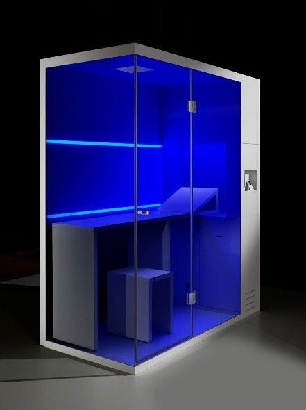 Compact Shower Cubicle Offers Dry Sauna Steam Bath And Shower
