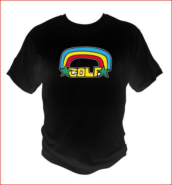 e935ee9b645a69 Ofwgkta Odd Future Rainbow logo style BLACK T-SHIRT tyler The Creator