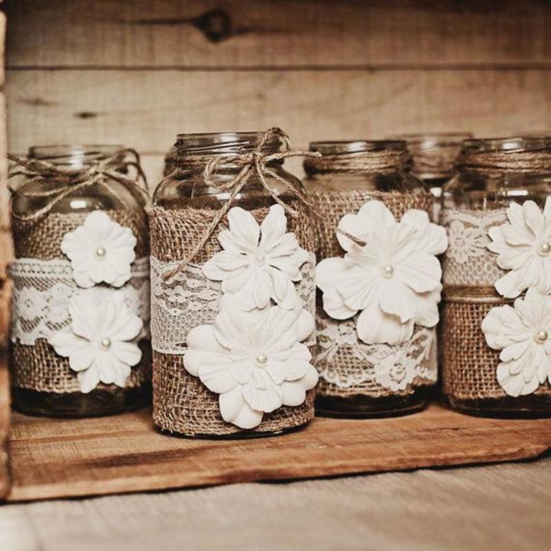 Rustic Wedding Ideas Using Burlap: Burlap Wedding Centerpieces