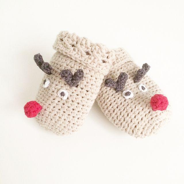 Reindeer mitten pattern | Christmas ideas | Pinterest | Duendes y ...