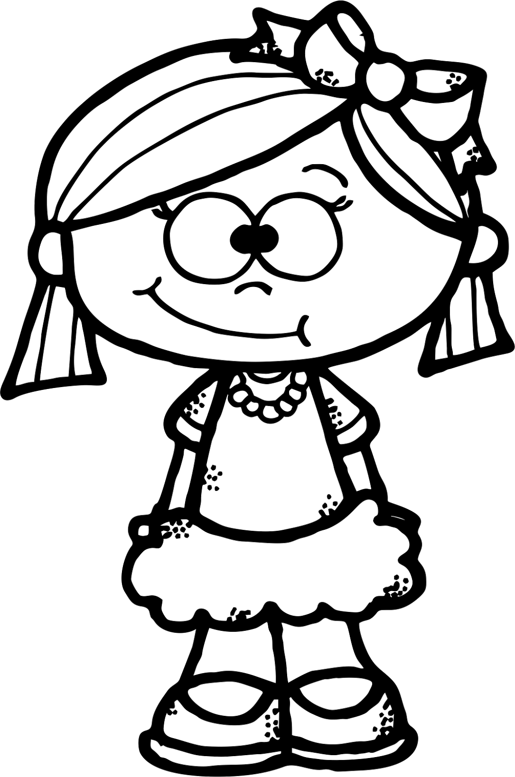 Worksheetjunkie Cute Girl Clipart Freebie