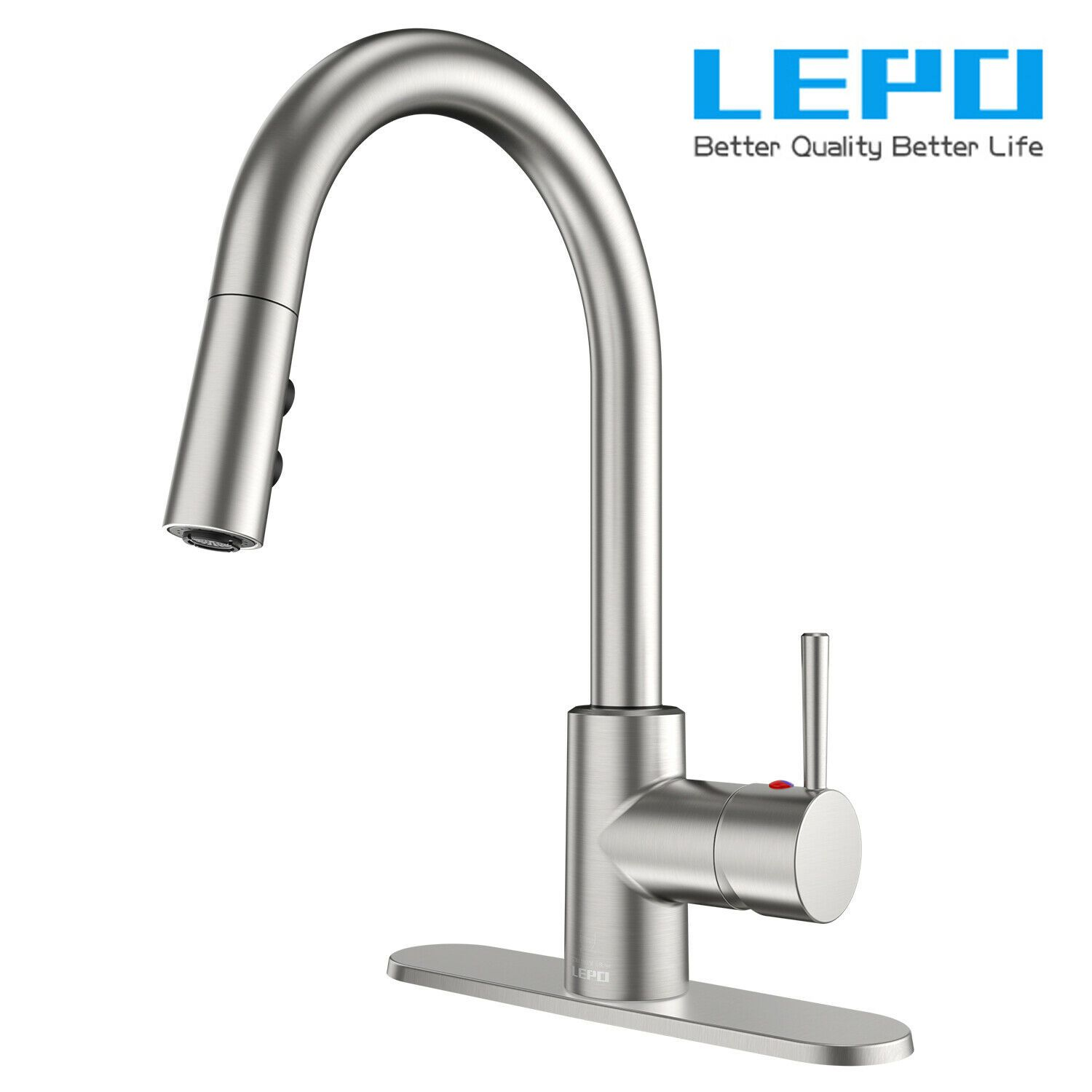 Details About Lepo Single Handle Kitchen Sink Faucet Pull Out