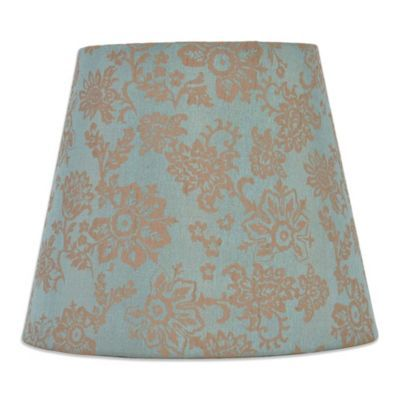 Bed Bath And Beyond Lamp Shades Impressive Mix & Match Small 10Inch Floral Hardback Drum Lamp Shade In Teal Design Inspiration