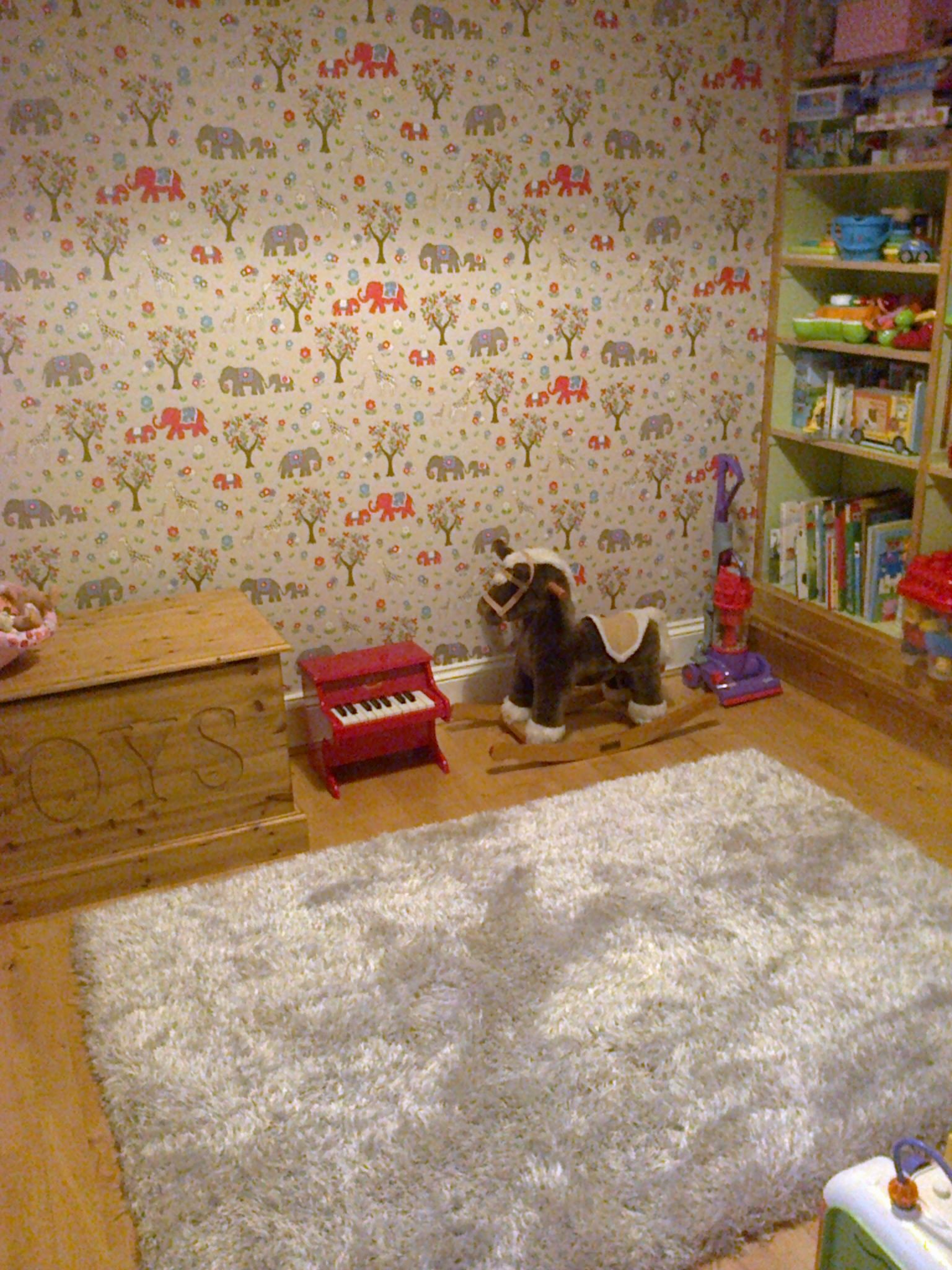 Cath Kidston Circus Elephant Wallpaper In The Playroom