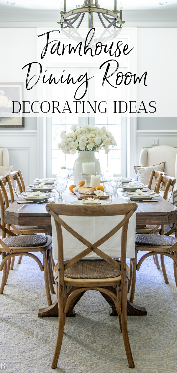 Summer Dining Room Update A Fresh White Table Setting Sanctuary Home Decor Dining Room Updates Chic Dining Room Farmhouse Chic Dining Room