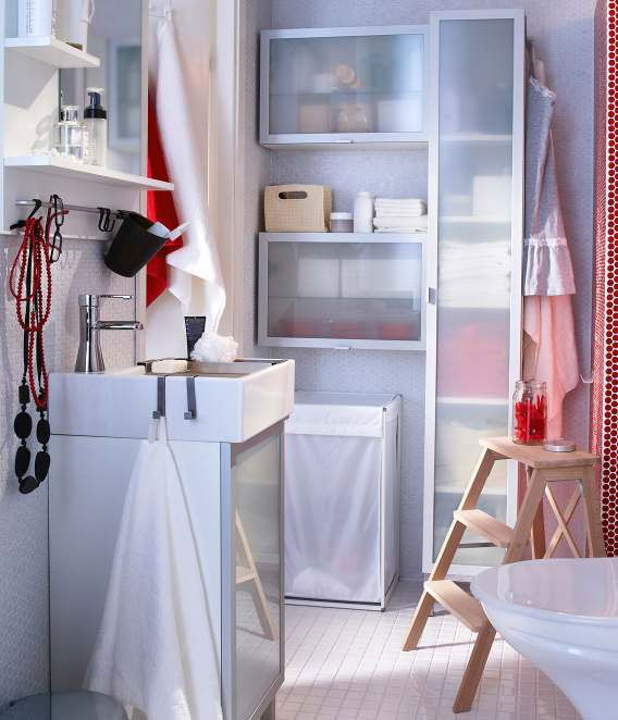 IKEA Bathroom Design Ideas 2012, IKEA knows how to work a small space!