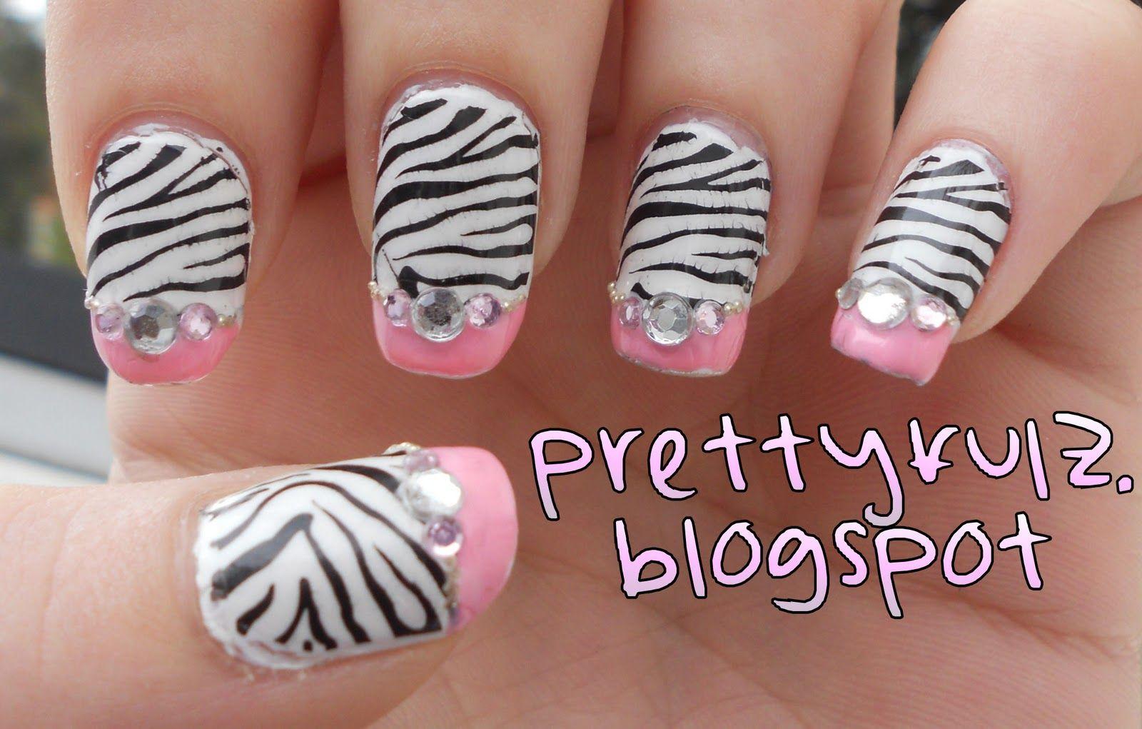 Pretty Toe Nail Art Prettyfulz Konad Nail Art Pink Zebra Nail
